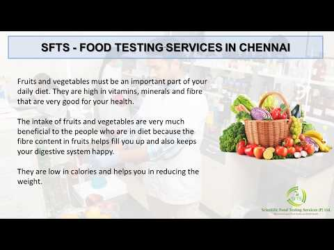 LABORATORY TESTING FOR FRUITS AND VEGETABLES IN CHENNAI