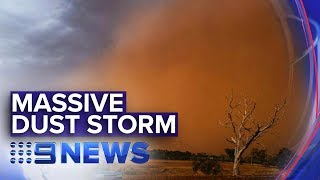 Dust storm barrels across regional NSW | Nine News Australia