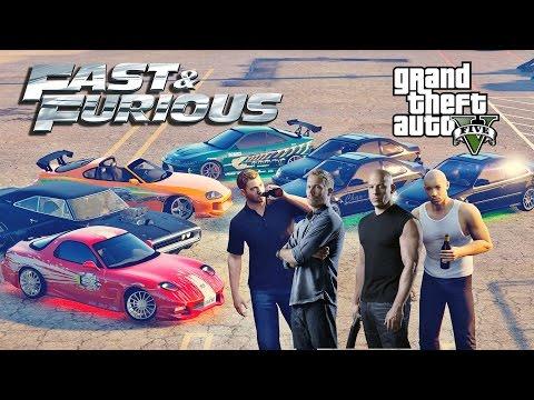 GTA 5 - Вин Дизель (Доминик Торетто) грабит грузовики и магазины / (Форсаж/The Fast and the Furious)