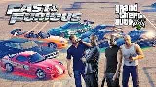Vin Diesel (Dominic Toretto) and his criminal life in Grand Theft Auto 5 (The Fast and The Furious)