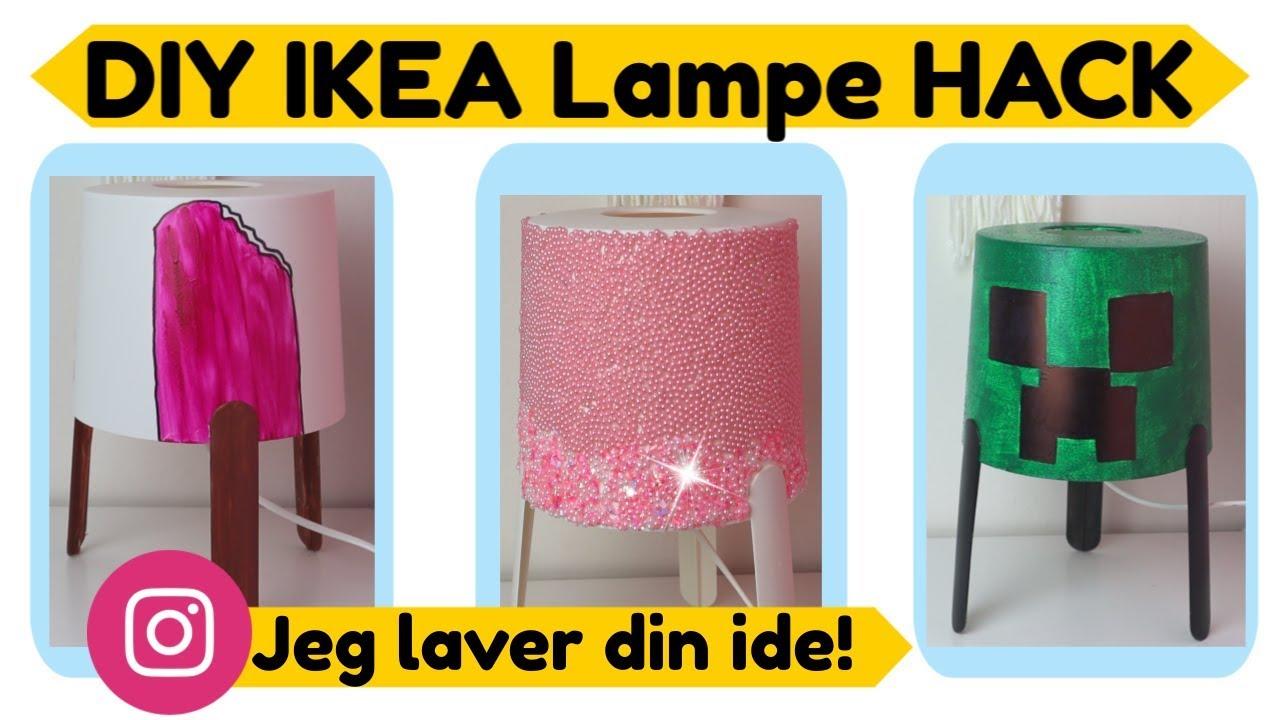 diy ikea lampe hack jeg laver din ide youtube. Black Bedroom Furniture Sets. Home Design Ideas