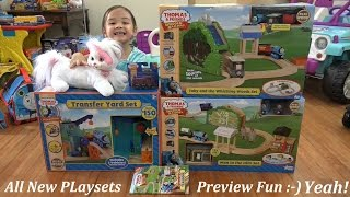 3 New Thomas & Friends Wooden Railway Playsets Preview + Disney Frozen Ride-on Jeep