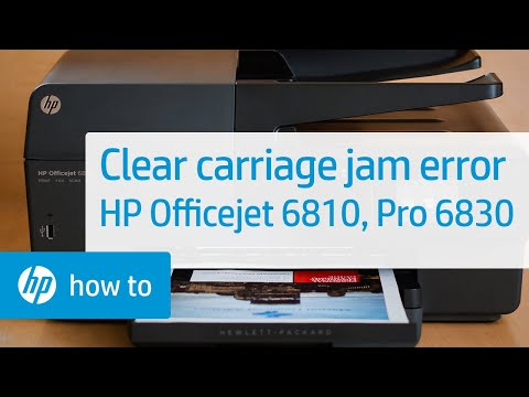 Clearing a Carriage Jam Error on the HP Officejet 6810 and Officejet Pro 6830 Printer Series
