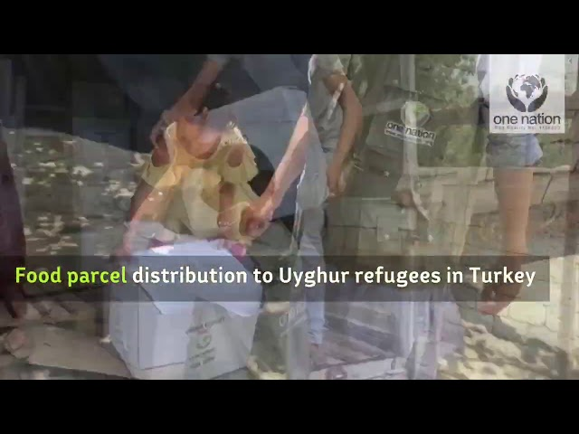 Food Distribution to Uyghur Refugees in Turkey - June 2020