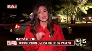 Phoenix child run over, killed by parent