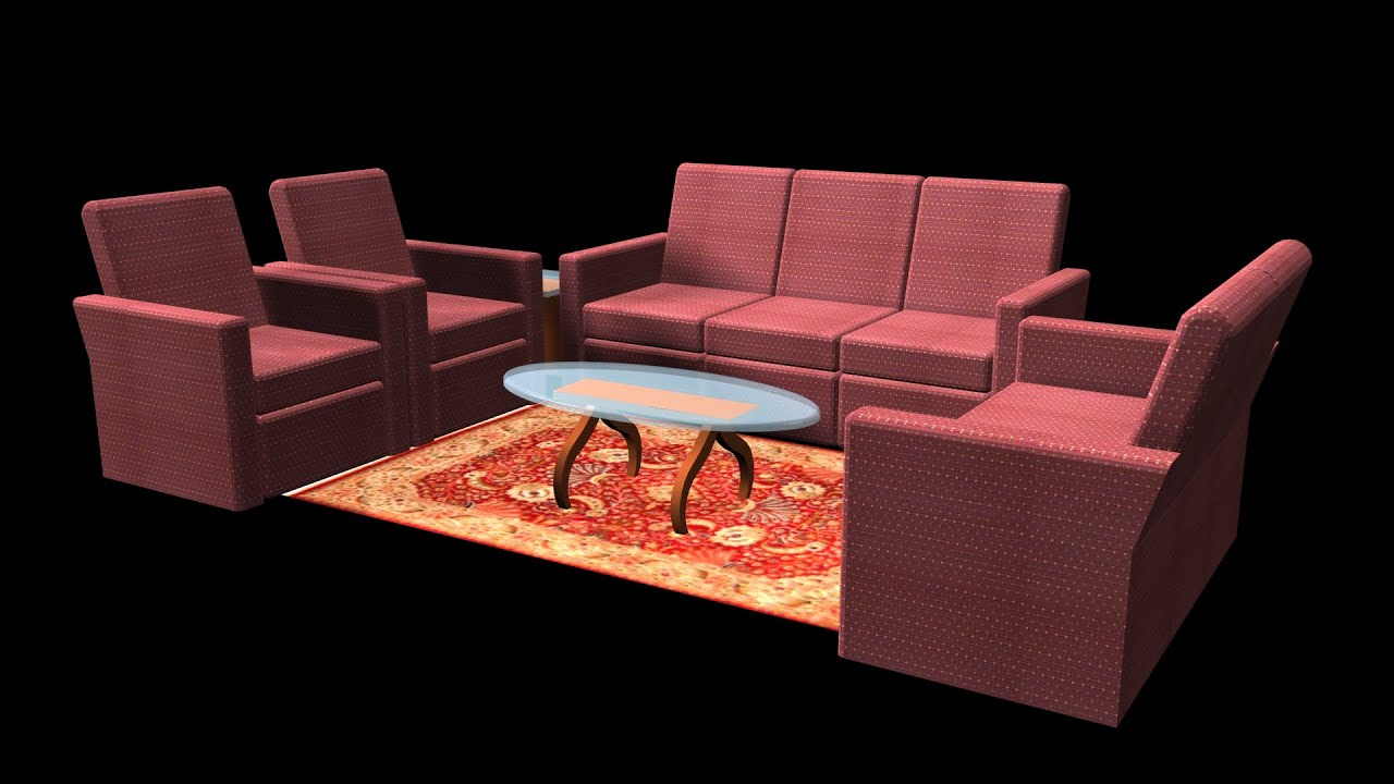 AUTOCAD 3D SOFA 3D SOFA SET MODELING YouTube
