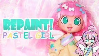 Repaint! Pastel Girl Shopkins Shoppies Doll Custom