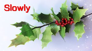 ABC TV | How To Make Christmas Holly Branch Paper (Slowly)- Craft Tutorial