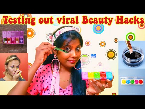 Testing Out Viral Beauty Hacks 5 Minute Crafts [ TAMIL ]