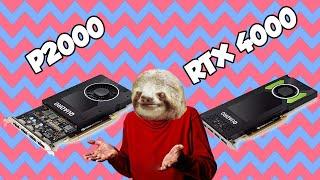 P5000 vs P2000 vs RTX Quadro 4000 in Plex