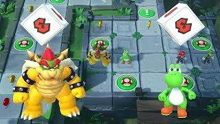 Super Mario Party -Mario Party Domino Ruins Treasure Hunt- Bowser Yoshi Vs Mario Luigi All Mini Game