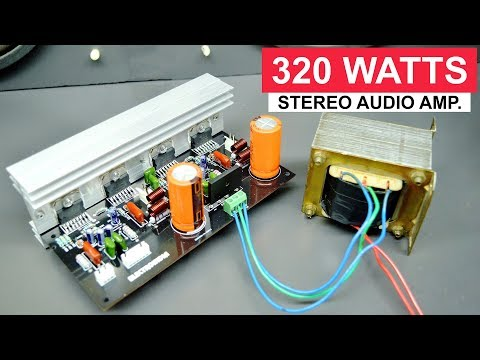 320 Watts Stereo Amplifier Board DIY TDA7294 X4 IC   ELECTRO INDIA