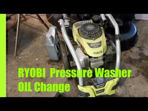 Oil Change on a Ryobi Pressure Washer