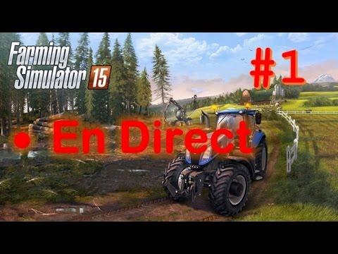 [REDIFFUSION LIVE] Farming simulator 15 | #1 Carrière suivie sur Björnholm