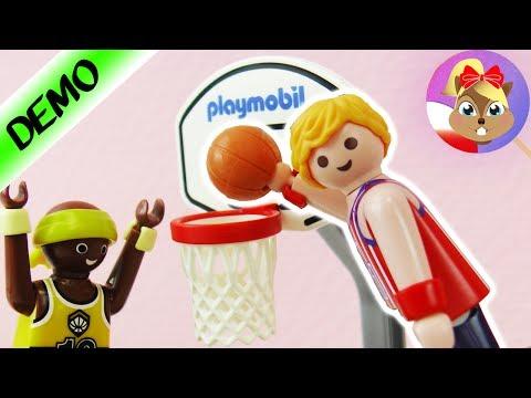 Playmobil NOWY zestaw POJEDYNEK w KOSZYKÓWKĘ 9210 | Dwóch graczy podaje sobie piłkę