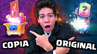 - ABRO COFRES ORIGINALES VS COFRES COPIA de Clash Royale ANTRAX