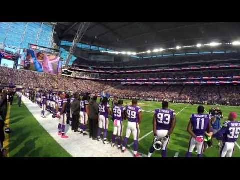 National Anthem - 2016 MN Vikings - US Bank Stadium - Esera Tuaolo/David Feily