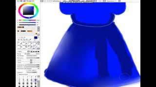 Видео урок по рисованию одежды(Платье)