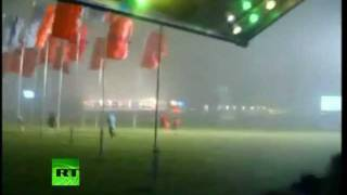 Video of Pukkelpop stage collapse as storm sweeps Belgium festival