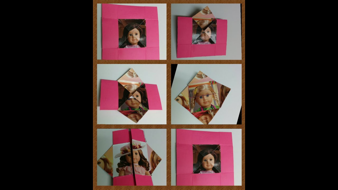 Art and craft how to make magic folding greeting card for How to make folded christmas cards
