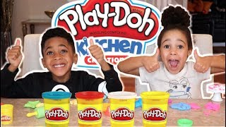 FamousTubeKIDS Play-Doh Kitchen Creations! Cake, Cookies, Pizza