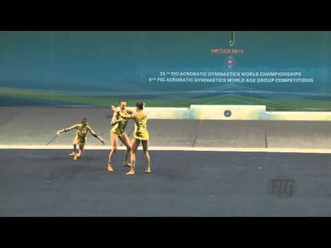 Russia (RUS) -  2016 Acrobatic Worlds, Putian City (CHN) Balance  Women's Group