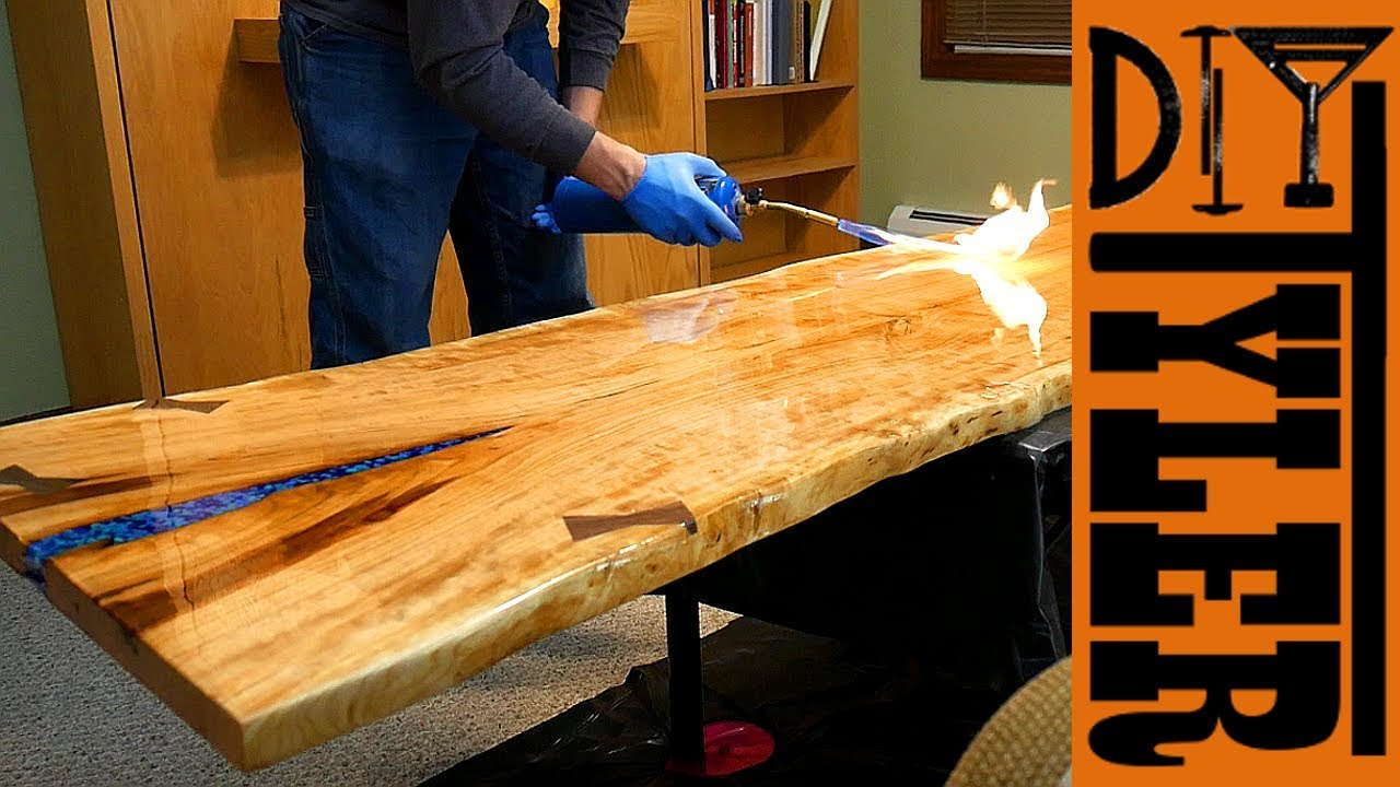 How To Epoxy Table Top Edges | Wallseat.co