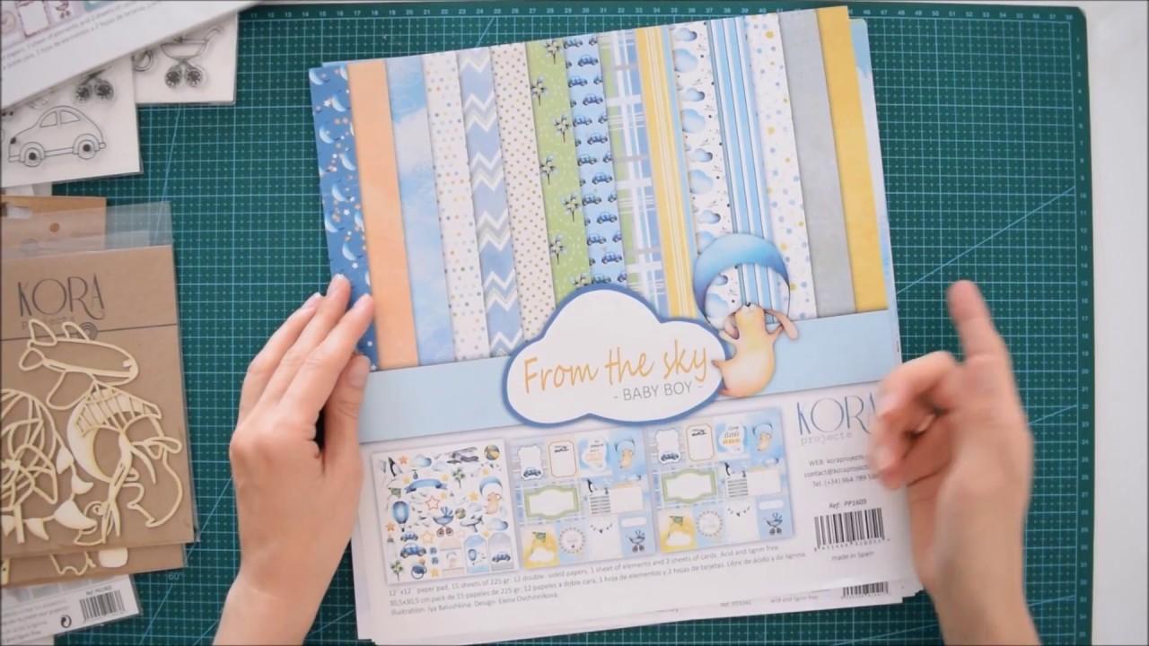 4bc3ecddc Colección de bebé nño y niña  papeles de scrapbooking +pegatinas+sellos+chipboard