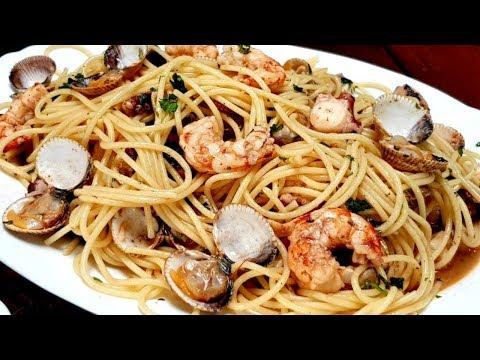 Espaguetis frutti di mare, UN SABOR ALUCINANTE y muy fáciles