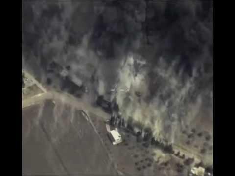 Russian Su24 bombing ISIS