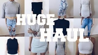 SUPER HUGE BACK TO SCHOOL CLOTHING HAUL TRY-ON 2015