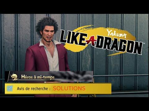Les 5 avis de recherche Héros à Mi-temps - Yakuza 7 Like A Dragon |