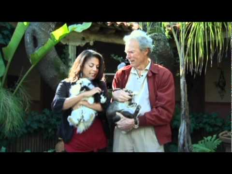 Clint Eastwood and Dina Eastwood support the SPCA for Monterey County.