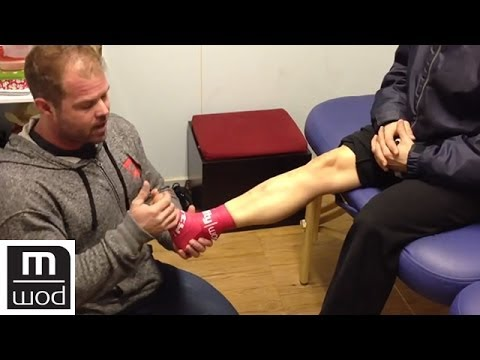 Ankle compression demo   Feat. Kelly Starrett   MobilityWOD