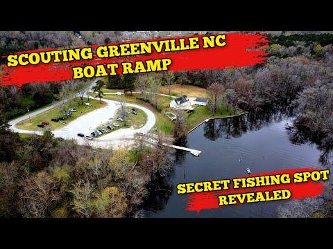 Mavic Mini Explores Greenville, NC Port Terminal Rd Boat Launch (secret Fishing Spot Revealed)