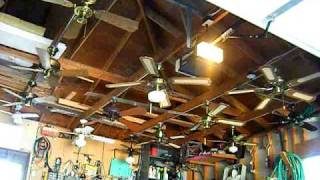 Ceiling Fan Display In My Garage-The Old Setup