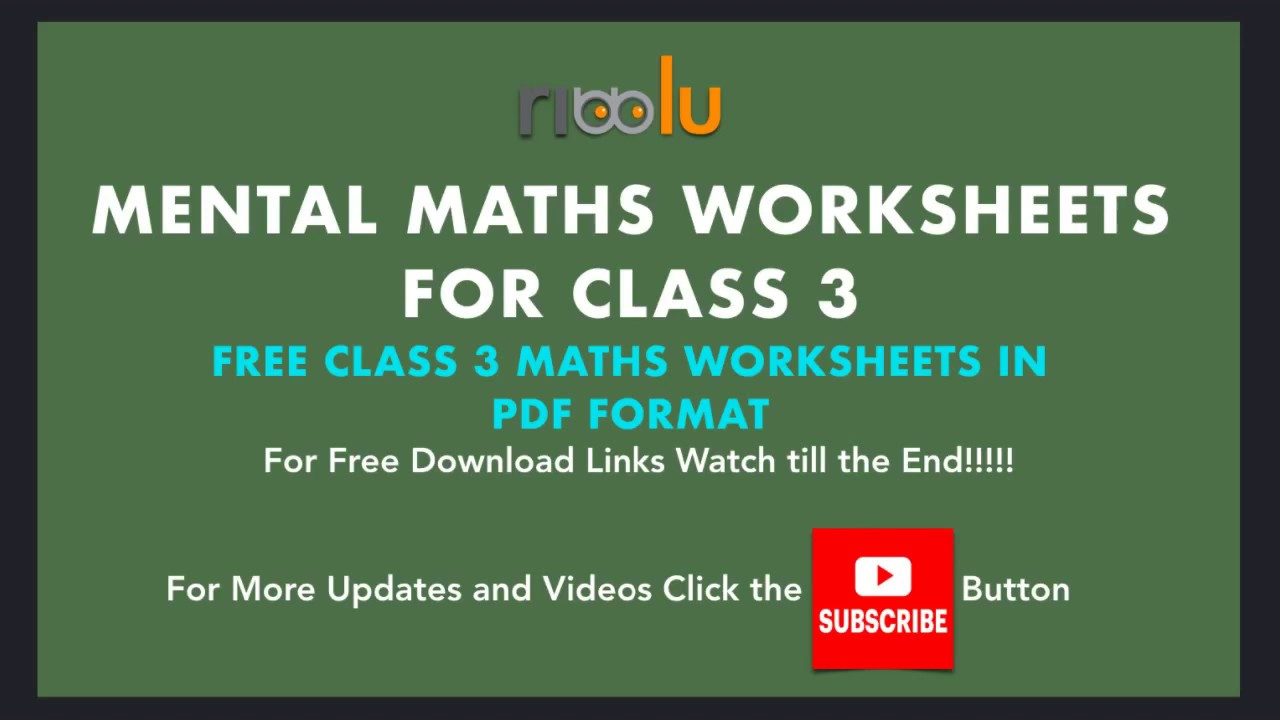 Division Sums Class 3 Maths Worksheets   3rd Grade Mathematics - YouTube [ 720 x 1280 Pixel ]