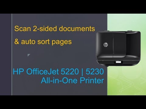 HP OfficeJet 5230 | 5220 | 5255 | 6950 | 6960: Scan 2 sided documents and automatically sort pages