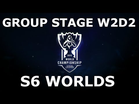 Week 2 Day 2 of S6 LoL eSports World Championship 2016 Groups! Full Day All Games #Worlds 2016