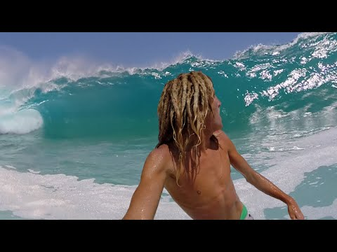 BIG & CRAZY SHOREBREAK!! Huge Waves With GoPro!