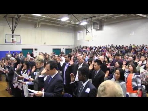 Moore Middle School Naturalization Ceremony April 8, 2016