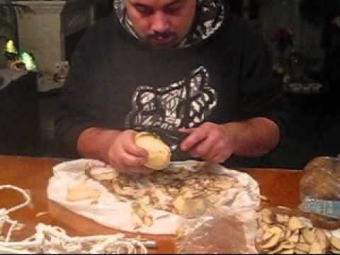 Newfie peeling potatoes