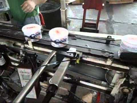 CIJ Printer Printing Codes on Tubs
