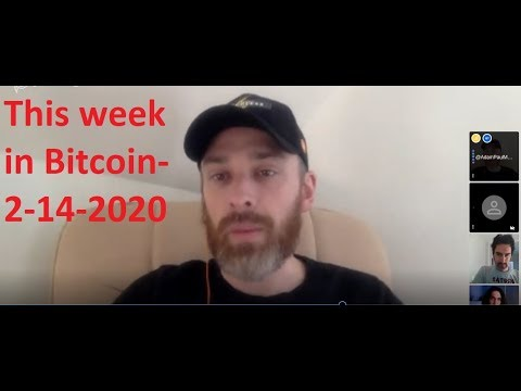This week in Bitcoin- 2-14-2020- Shadow BTC prohibition? Turning Altcoins off, institutions, Halving