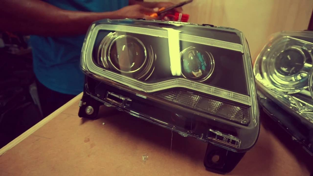 2012 Jeep Grand Cherokee Headlight Swap  YouTube