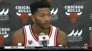 Chicago Bulls guard Derrick Rose is