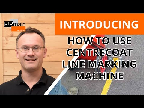 How To Use Centrecoat Line Marking Machine