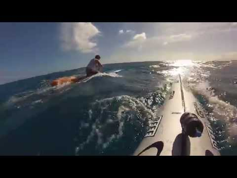 Go Pro Downwind Prone Paddleboard in Hawaii
