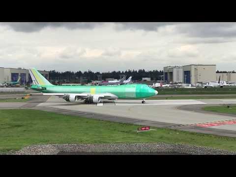 Boeing Everett Factory / 747 flight testing
