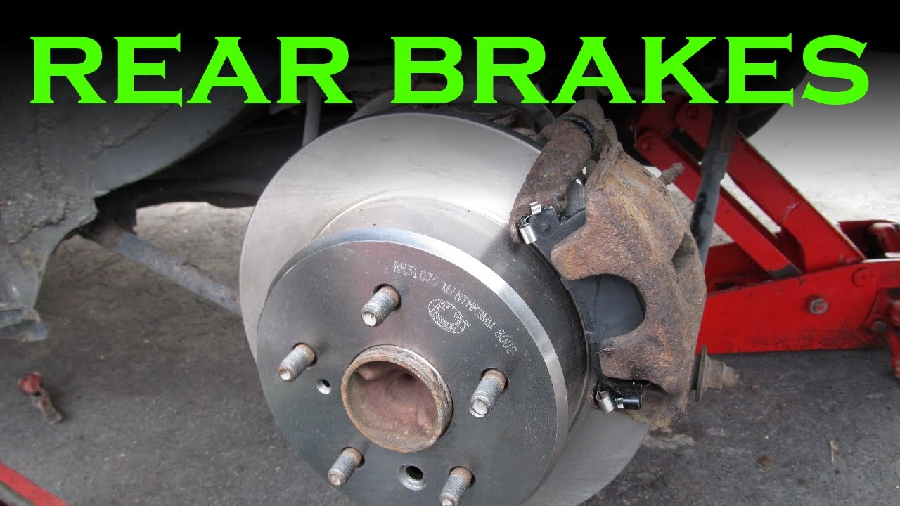 Toyota Rear Brake Pad and Rotor Change  YouTube